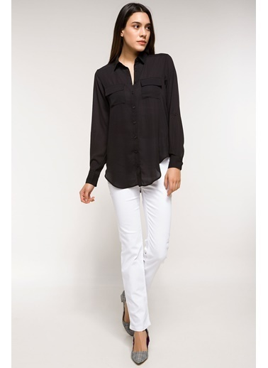 DeFacto Trend Pantolon Beyaz